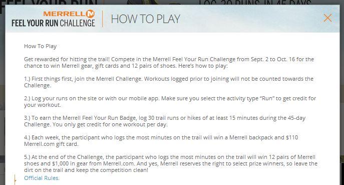 merrell rules