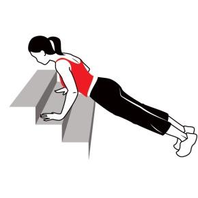 stair pushups