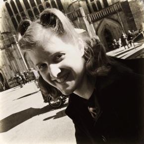 Rachel...looking all 1940s in Winchester