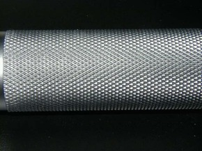 this is knurling...it hurts your hands