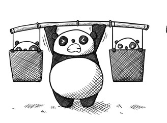 the evidence is mounting up!! Although I did use weight plates not baby pandas...