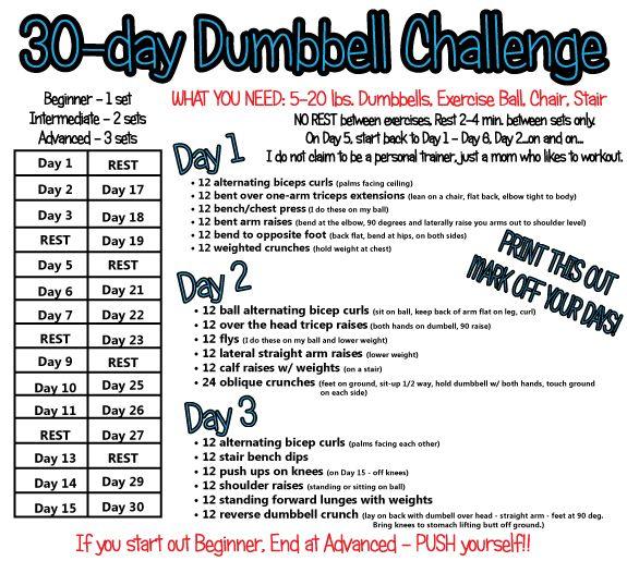 dumbbell challenge